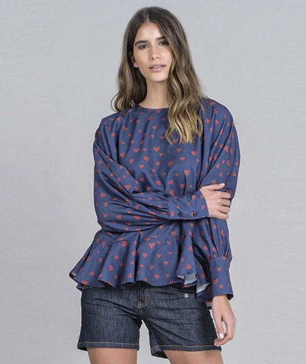 Blouse with...