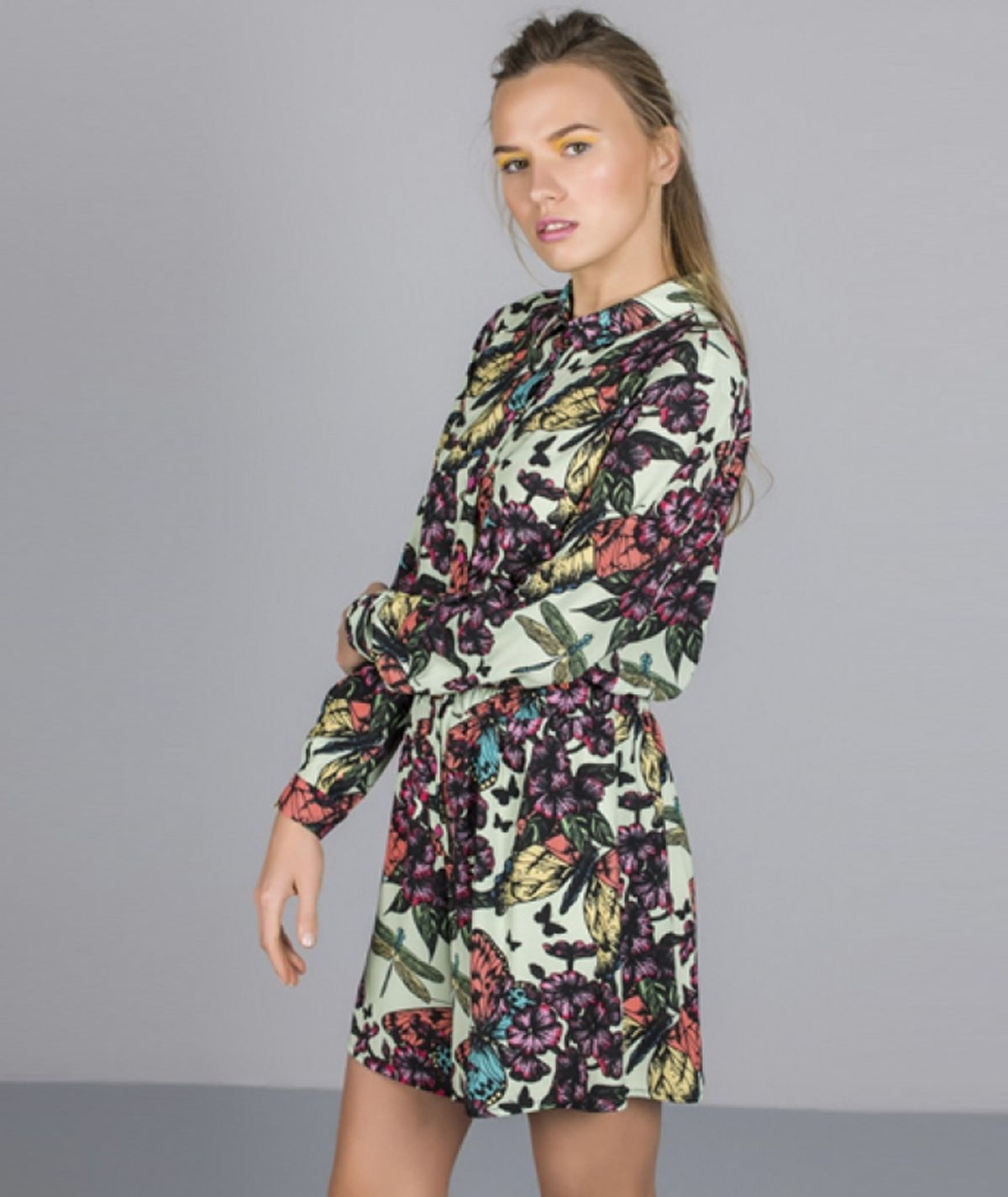 Jumpsuit with butterfly print