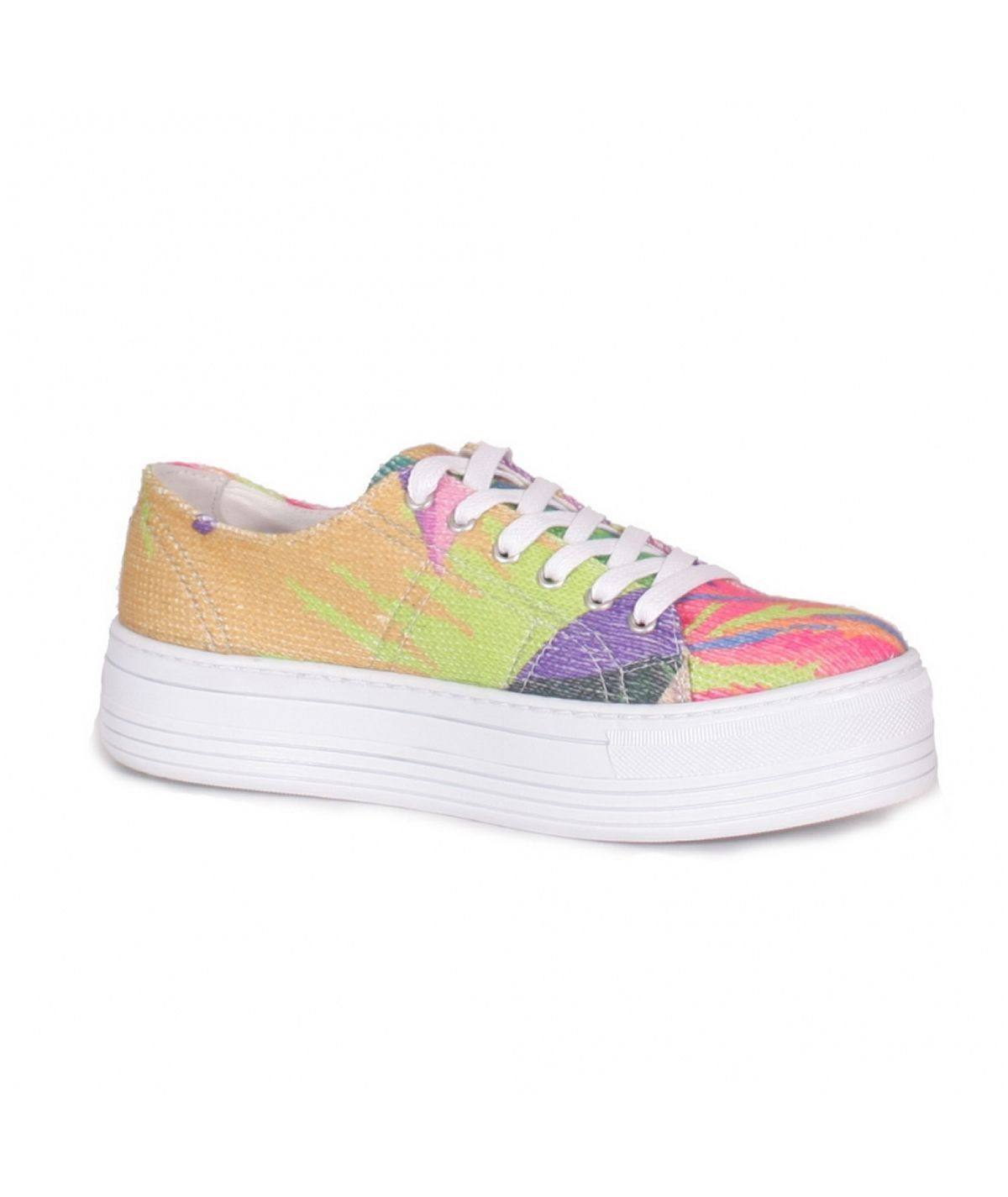 Sneaker with print and side...