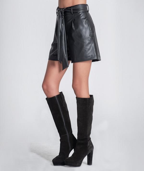 Nappa shorts with...