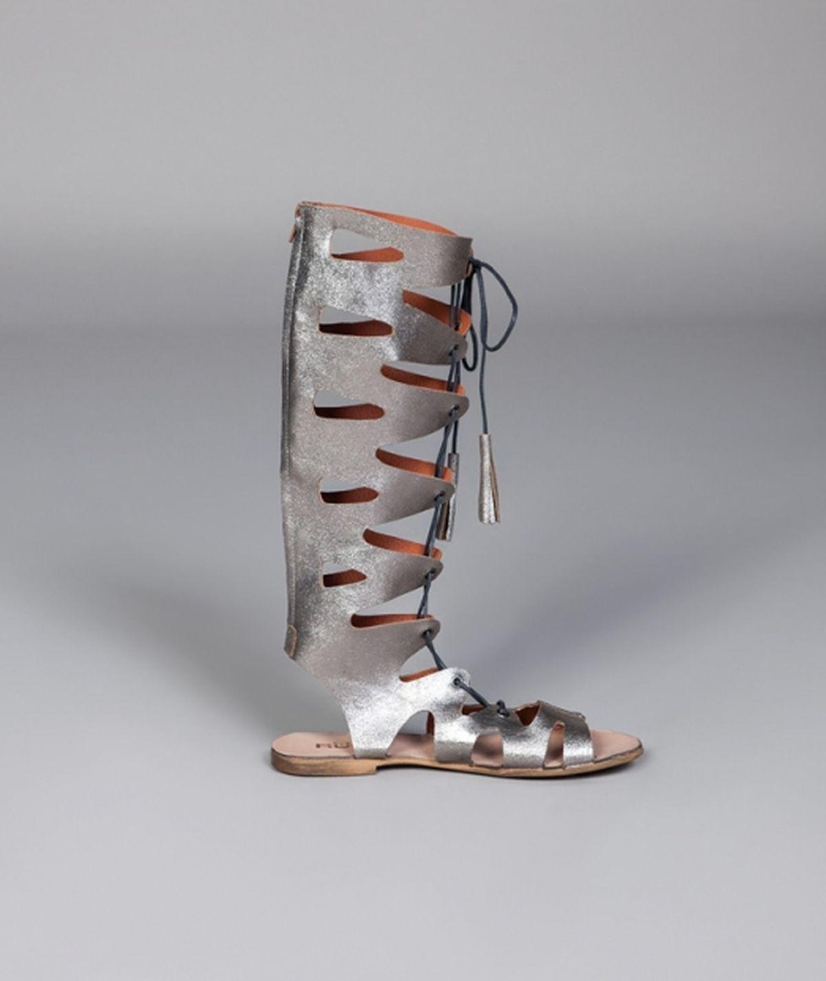 Sandálias gladiadoras altas