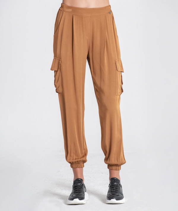 Pants with side...