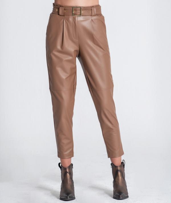 Nappa pants with...