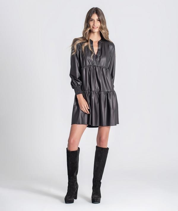 Nappa short dress