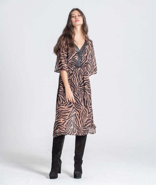 V-neck dress with...