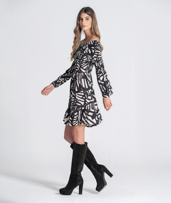 Ethnic pattern dress