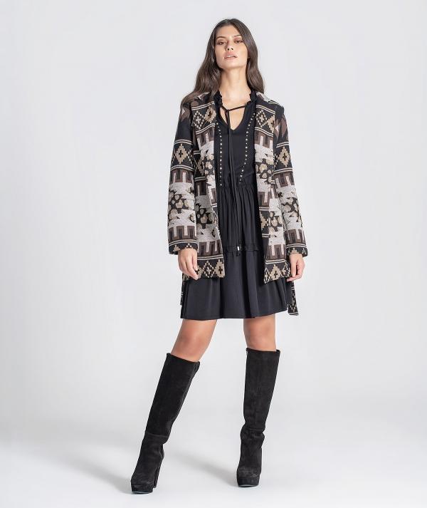 Ethnic pattern coat