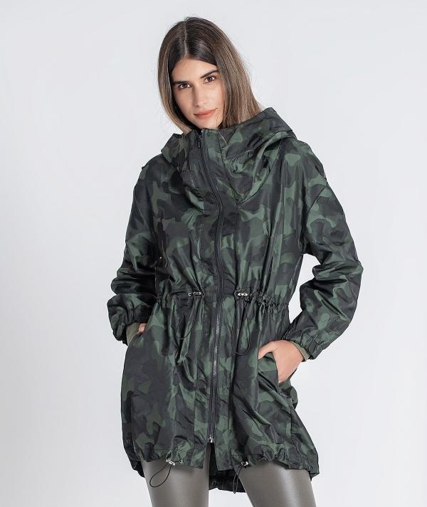 Parka jacket with...