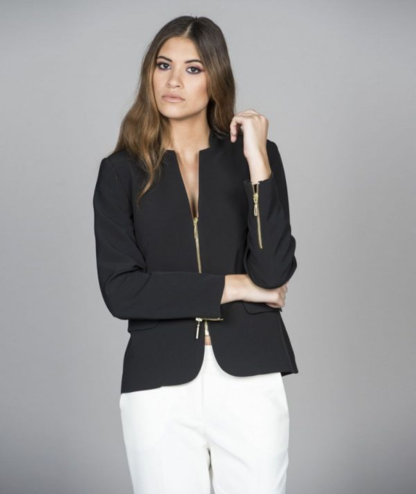 Blazer with zipper
