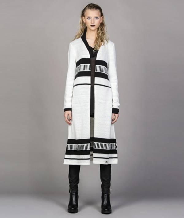Long striped jacket